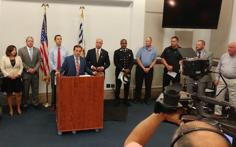 Cincinnati Mayor John Cranley announces a lawsuit against pharmaceutical distribtors.