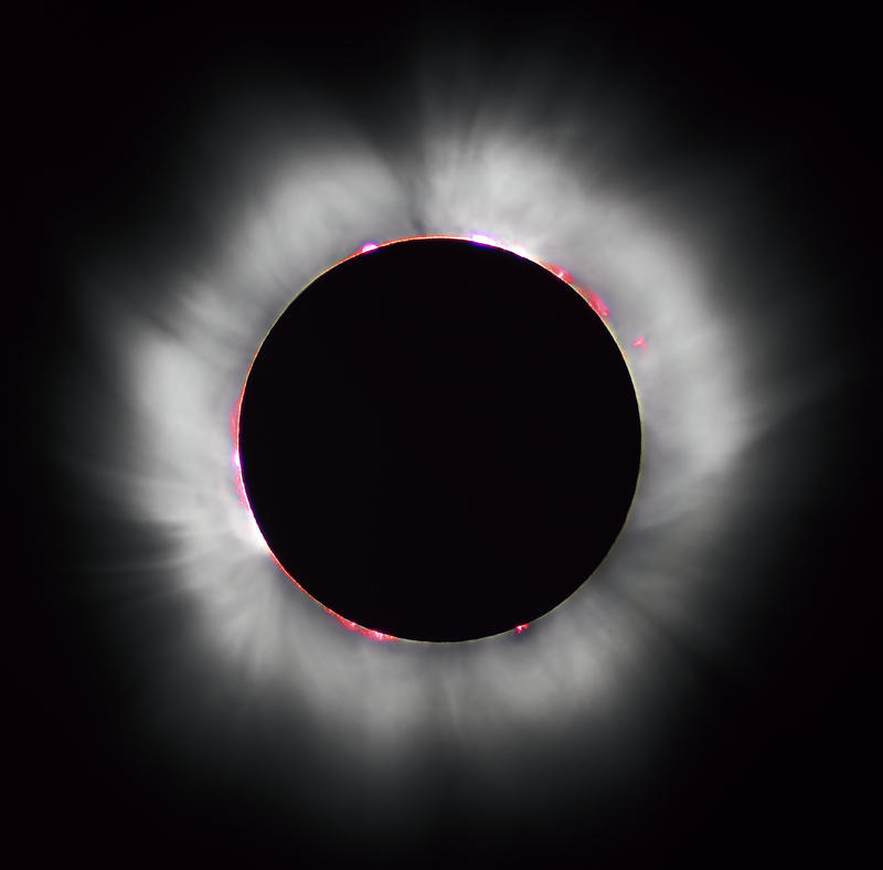Totality during the 1999 solar eclipse in France.