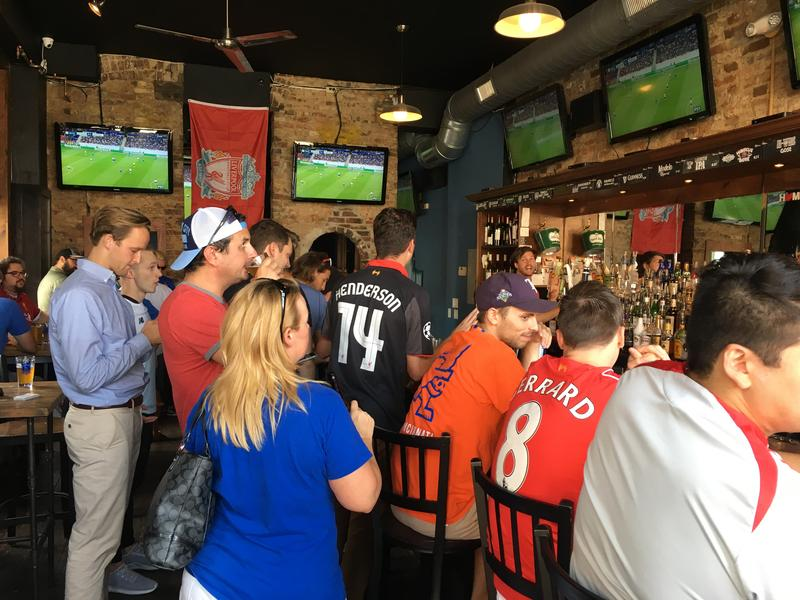 Hours before FC Cincinnati took the field these soccer fans were at Rhinehaus to watch the Liverpool match.