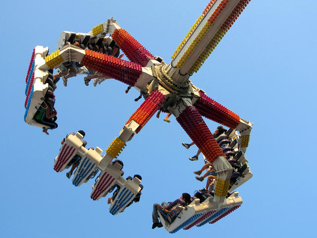 A file photo of the Fire Ball ride.
