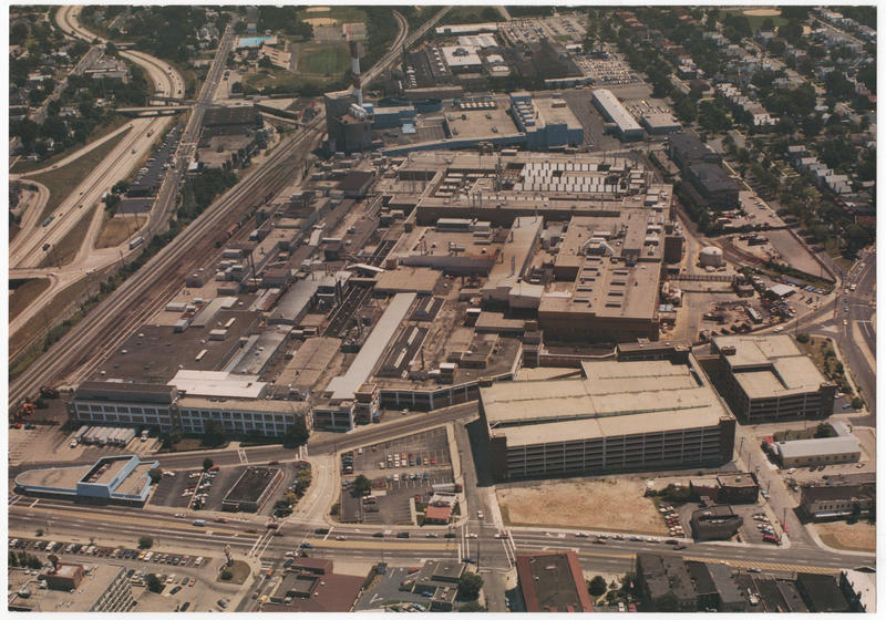 Only one building remains that was part of GM Norwood. It's the parking garage in the right front.