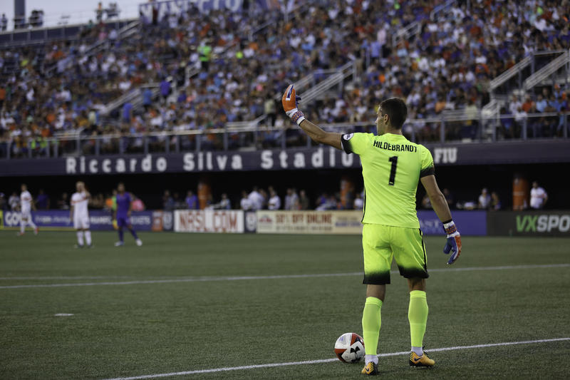Goalkeeper Mitch Hildebrand recorded a shut out against Miami FC in Wednesday night's US Open Cup victory.