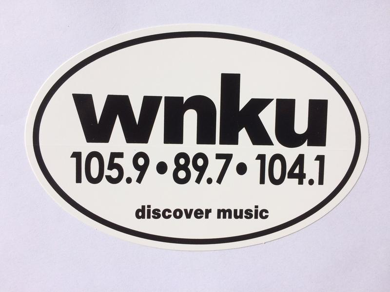 WNKU-FM window or car sticker