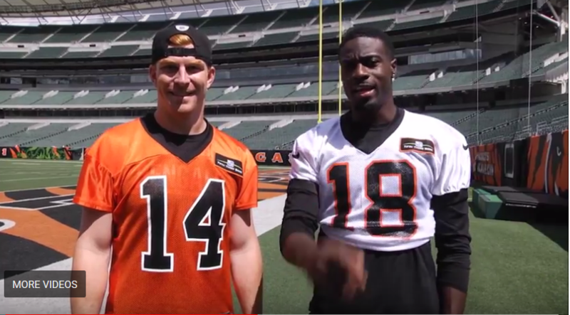 To commemorate the Bengals 50th anniversary, quarterback Andy Dalton and wide reciever A.J. Green are the grand marshals.