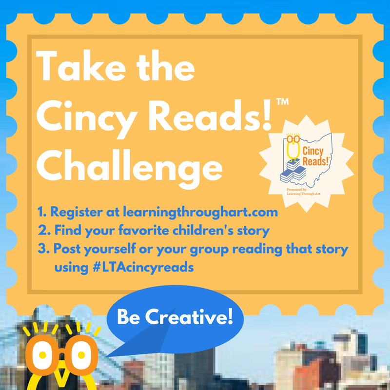 Learning Through Art is holding Cincy Reads! September 22-24 to celebrate its 25th anniversary.