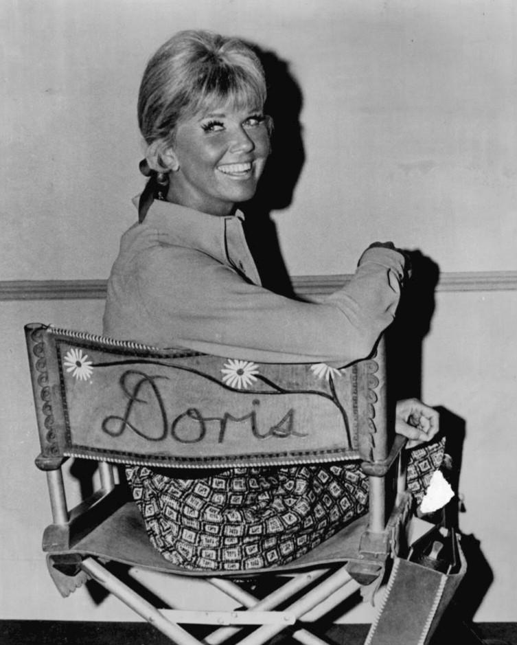 "Doris Day on the set of ""The Doris Day Show"" on CBS 1968-73."