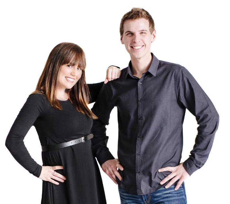 WUBE-FM afternoon hosts Amanda Valentine and Jesse Tack