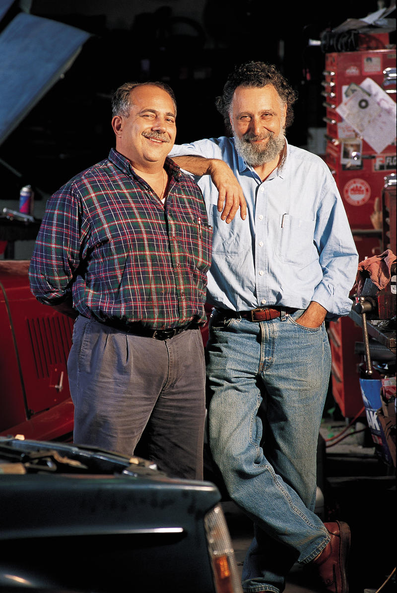 "Ray and Tom Magliozzi started ""Car Talk"" on NPR in 1987."