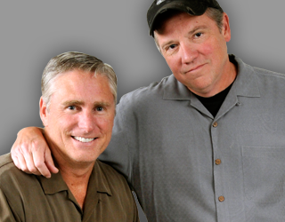 "Tracy Jones (left) and Eddie Fingers from WLW-AM's ""Eddie & Tracy Show"""