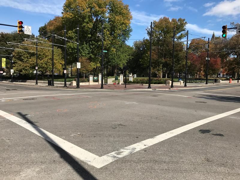 Intersection of 12th and Elm where a Duke Energy project will begin on Nov. 6.