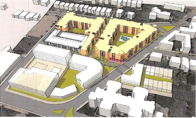 Proposed layout of the development project in East Walnut Hills.