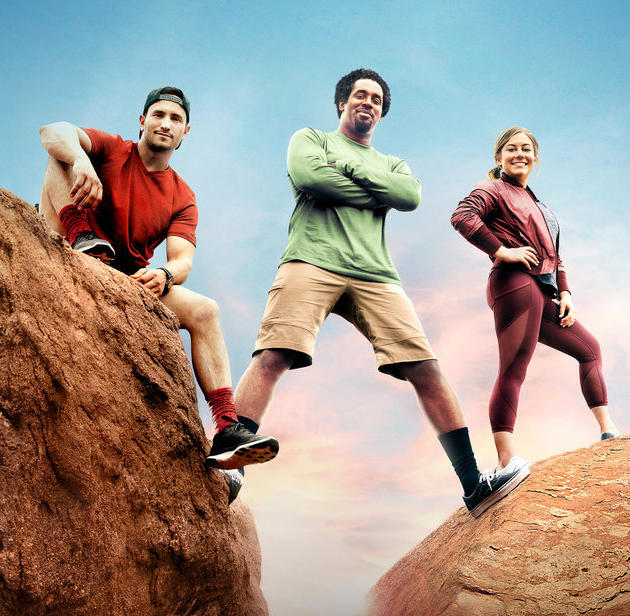 "Shawn Johnson East (right) joins ""Adventure Capitalists"" Dhani Jones (center) and Jeremy Bloom for the second season starting 10 p.m. Tuesday, October 10."