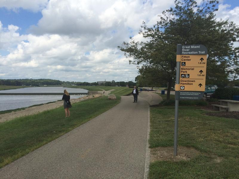 Hamilton has been building stretches of the trail that parallels the Great Miami River.
