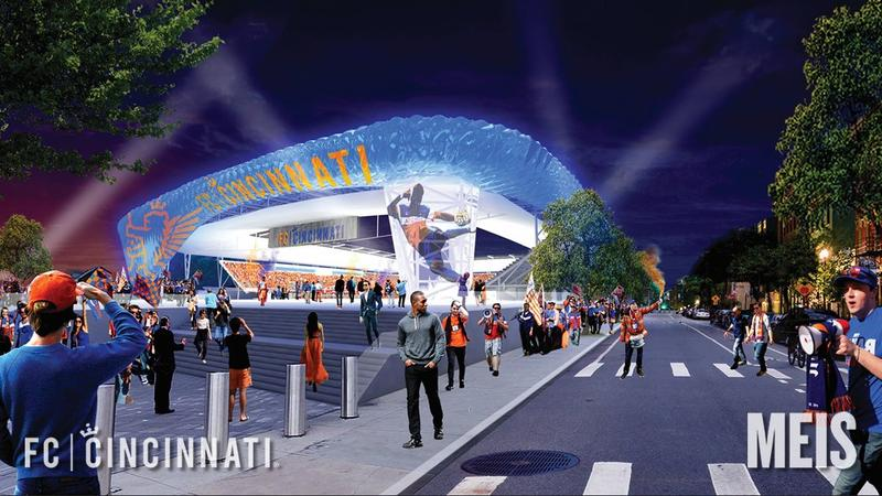 A rendering of what FC Cincinnati's new West End stadium could look like.