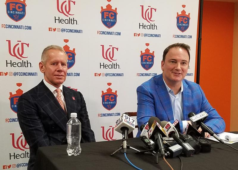 FC Cincinnati Carl Lindner III and GM Jeff Berding discuss an offer to privately fund a new stadium.