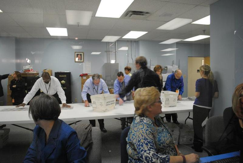 Hamilton County elections employees count ballots in November 2011.