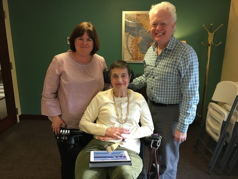 From left: Liz Vogel, Debbie Rosen and Dan Ansel explain a new website aimed at aging in place.