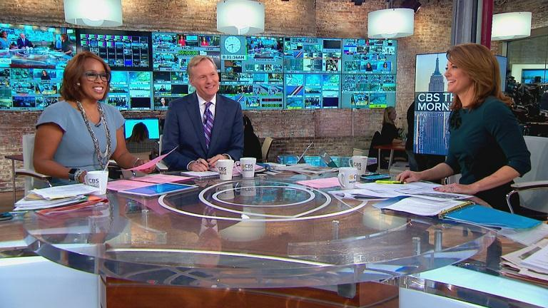 "John Dickerson (center) joins Gayle King and Nora O'Donnell as ""CBS This Morning"" co-host on Wednesday, Jan. 10."
