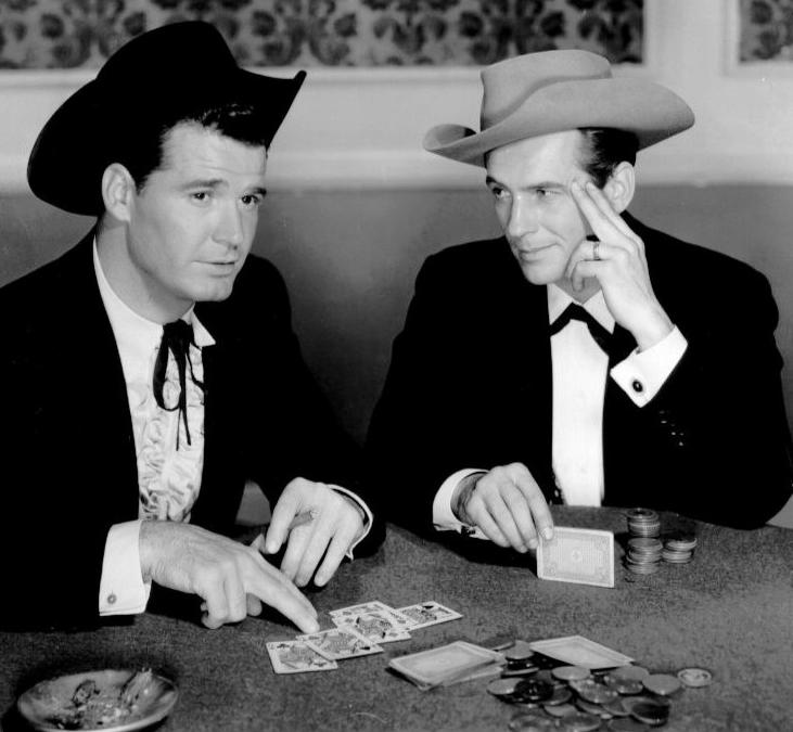 "James Garner (left) and Jack Kelly star in ""Maverick,"" a 1950s TV show on Heroes & Icons."