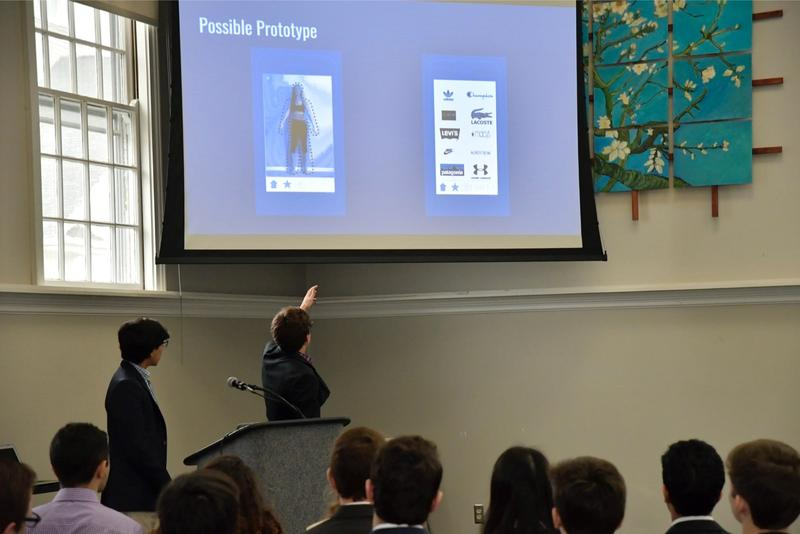 (from left) Shaan Bedi and Ricardo Godoy pitch their ActuallyMe app.