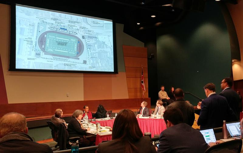 FC Cincinnati General Manager Jeff Berding lays out a vision for a stadium deal at a February 12 CPS board meeting.