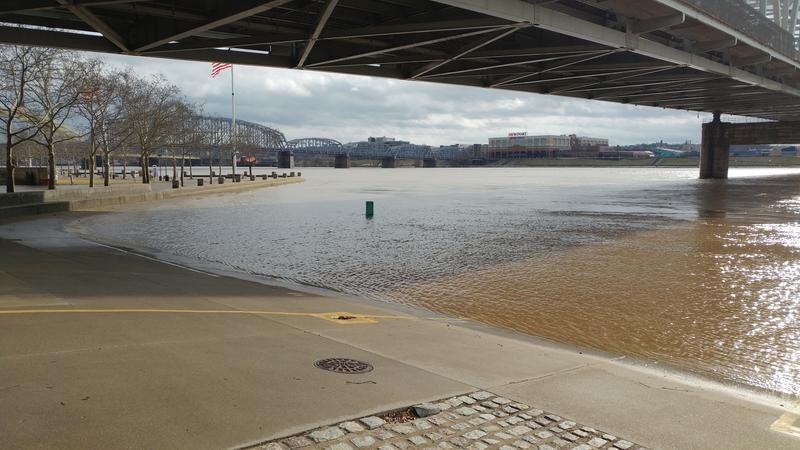 The Public Landing has been closed for days because of high water.