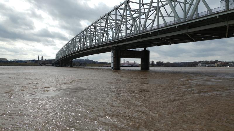 Monday morning, the Ohio River was just under 54 feet.