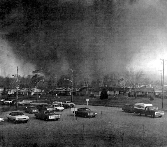 F5 tornado over Xenia in 1974