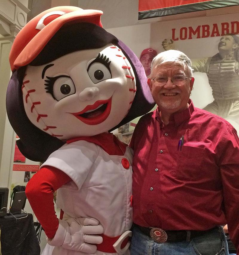 Rosie Red and me at the Reds Hall of Fame