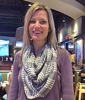 Angela Perkins at Buffalo Wings & Rings Wednesday.
