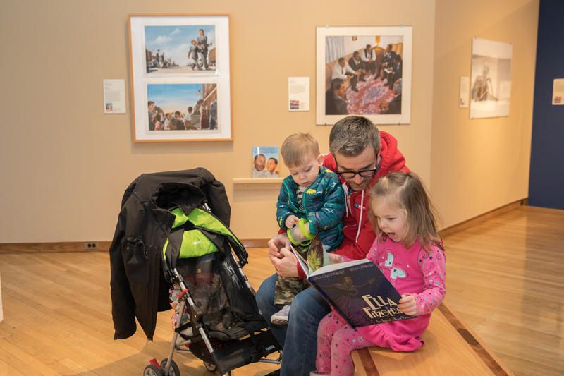Impromptu storytime in the gallery.