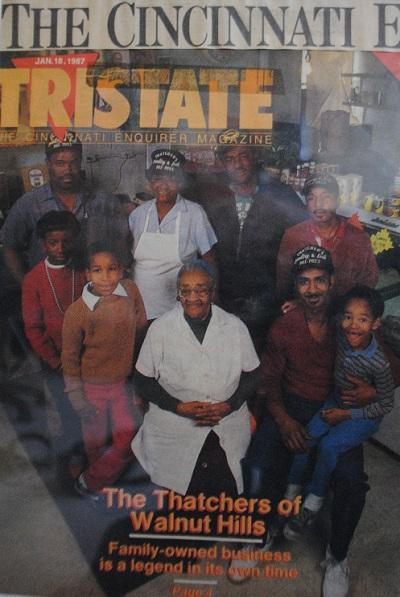 The Cincinnati Enquirer Magazine cover story from 1987. Mrs. Georgia Thatcher (center), Nadir Rasheed (right).