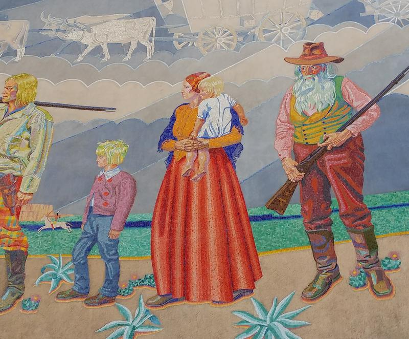 Some visitors have said they never noticed the woman's shawl until the mural was restored.