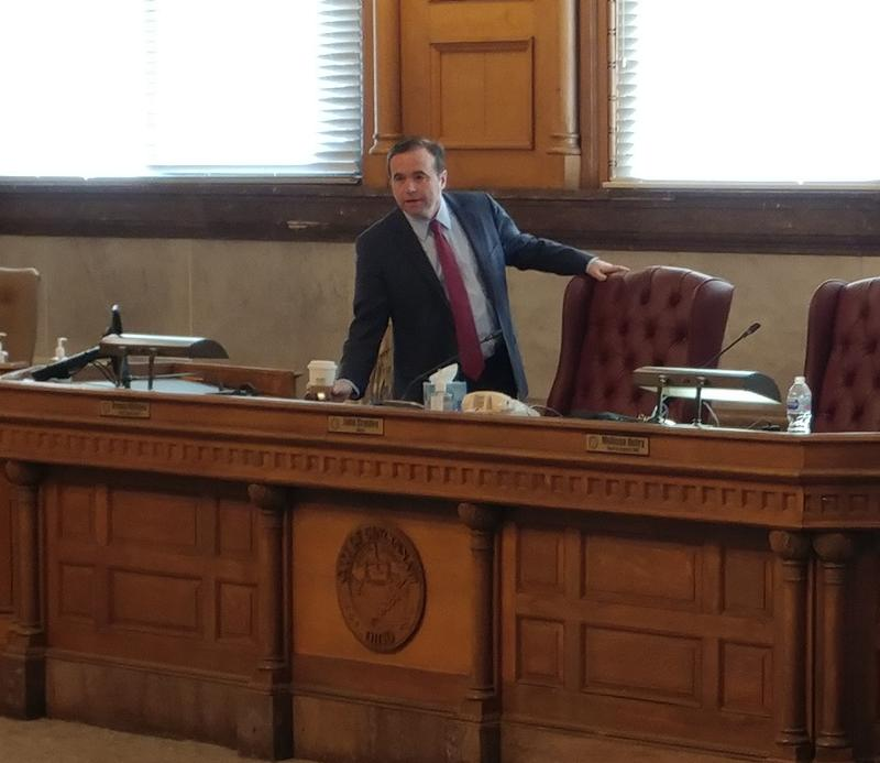 Mayor John Cranley prepares for a rare Saturday session of Cincinnati council.