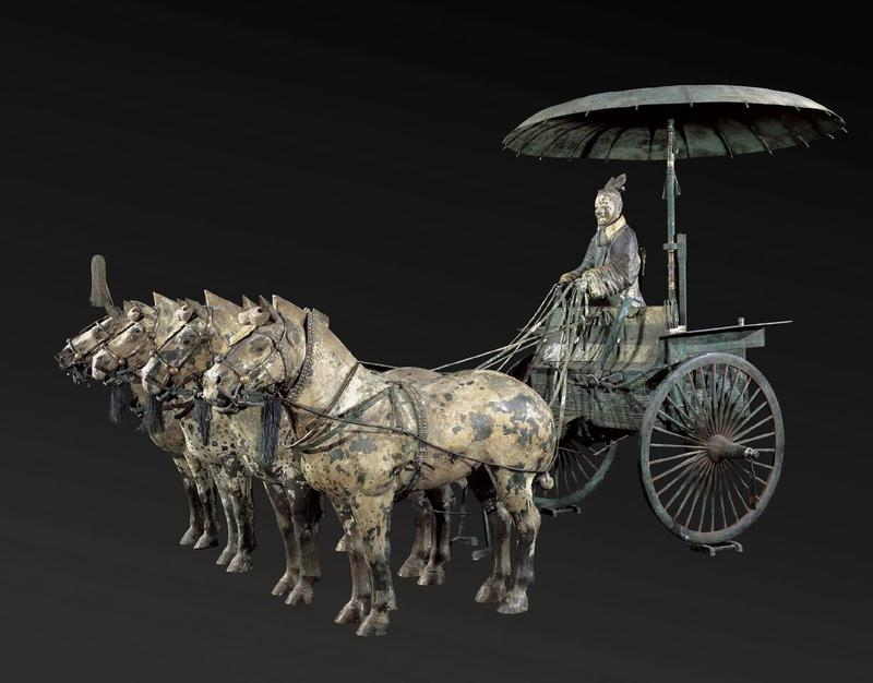Chariot with horses.