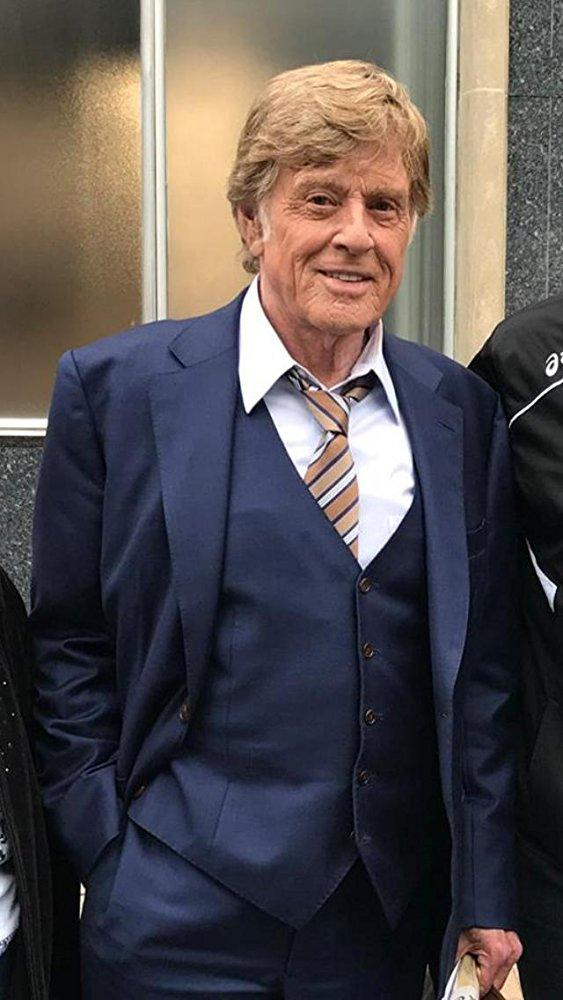 Robert Redford after filming a scene in Newport in May 2017.