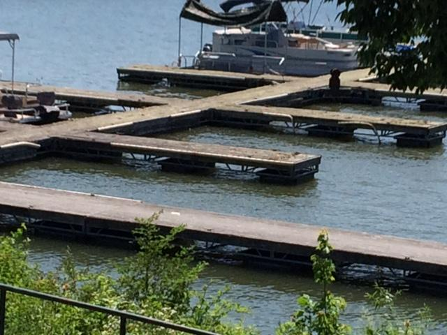 The fishing and boat docks at Middlefork Reservoir are old and in need of repairs.