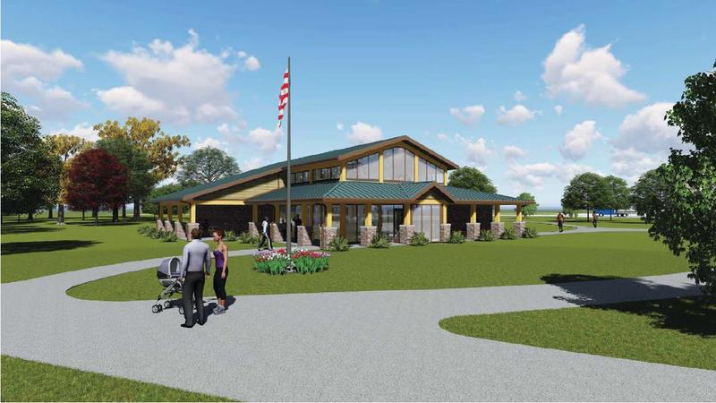 An artist rendering of how the new rest areas may look.