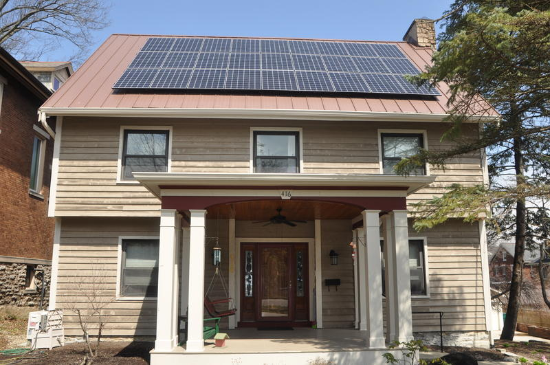 This Clifton home recently was fitted with solar panels, something Cincinnati hopes a lot more people do.