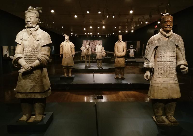 China allows a maximum of ten figures per institution. The Art Museum's curator chose a variety of warriors and civilians - and a horse - for the Cincinnati exhibit.