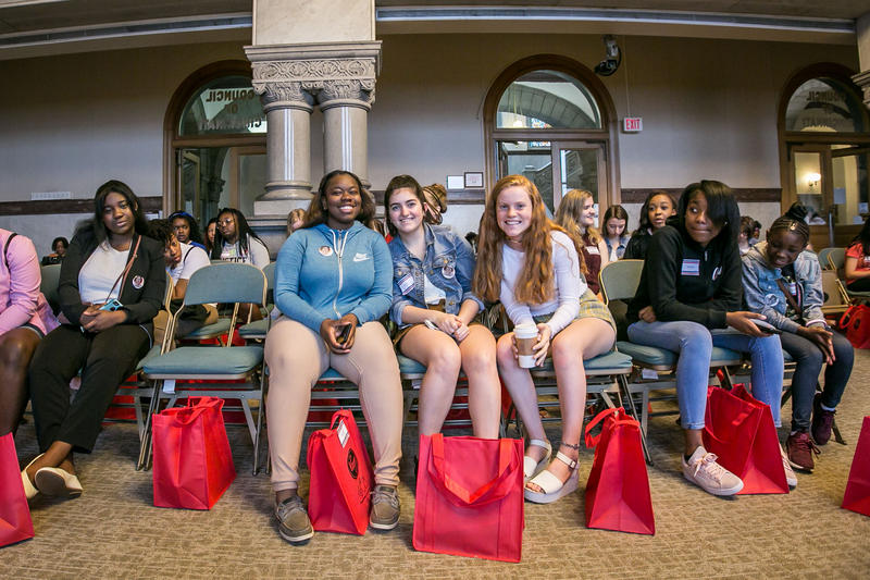 Girls In Government Day at City Hall