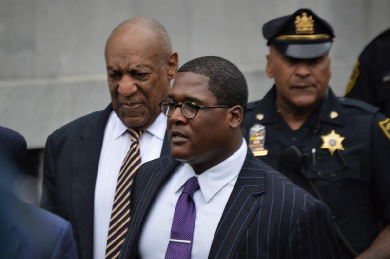 Bill Cosby at the Montomery County Courthouse in Pennsylvania during his first trial on June 5, 2017.