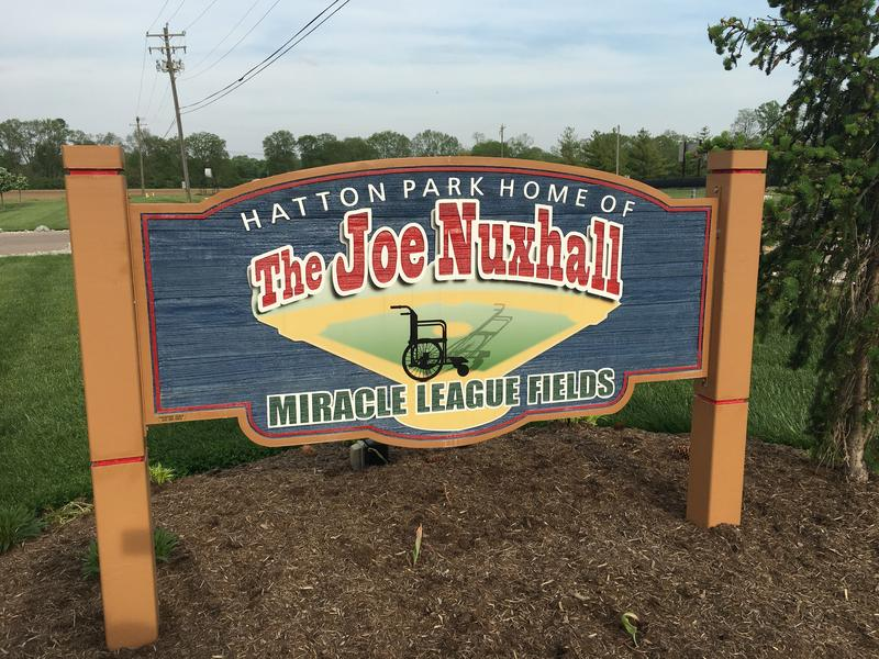 "On its website, The Joe Nuxhall Miracle League Fields says ""It is not a place, rather it's a team of people dedicated to the idea that every kid, with every challenge, should get every chance to play baseball."""