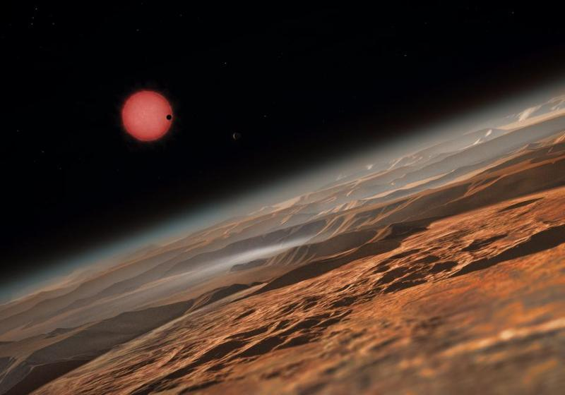 There's no shortage of adventure in space. Here's a potential view on your planetary trip.