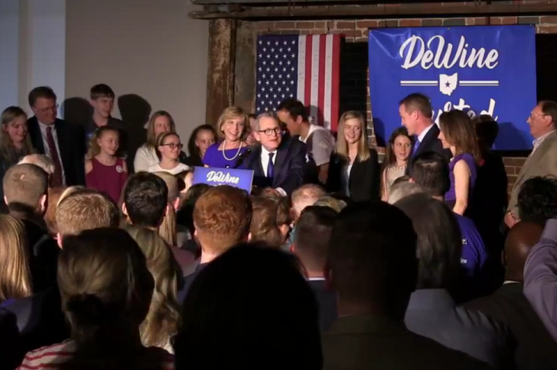 Republican Gubernatorial Nominee and Attorney General Mike DeWine speaks on Facebook Live