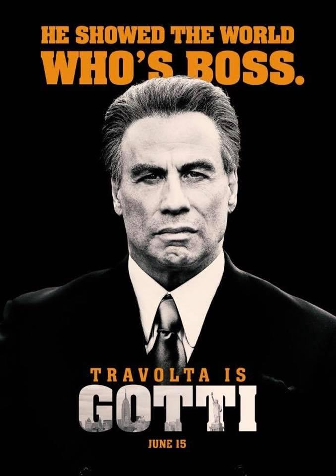 "Movie poster for ""Gotti,"" which opens in theaters on June 15."