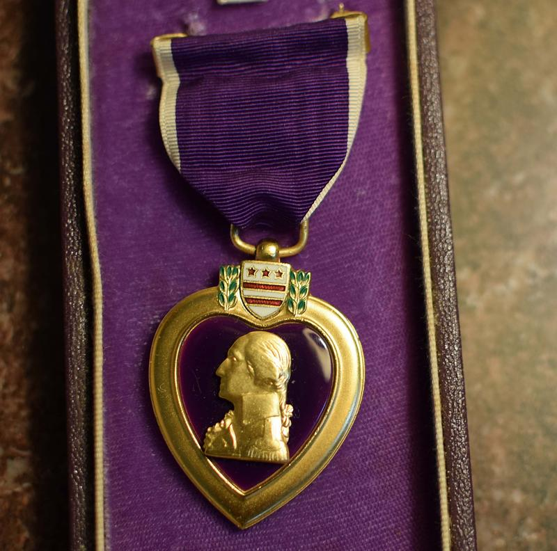 Chantel Oliver found her uncle's Purple Heart after her mother died.