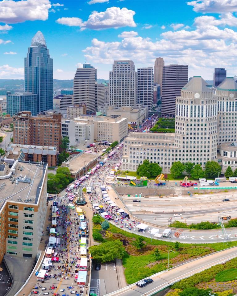 2017's Taste of Cincinnati attracted an estimated 550,000 people.