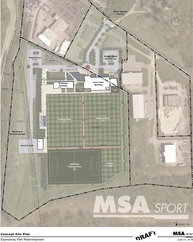 The club wants Milford's Expressway Park to host a training facility and soccer academy.