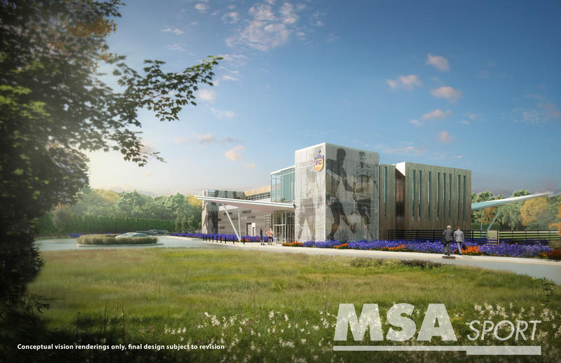 A rendering of what the Milford training facility might look like.